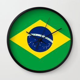 Flag of Brazil - Hi Quality Authentic version Wall Clock