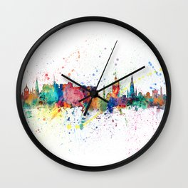 Edinburgh Scotland Skyline Wall Clock