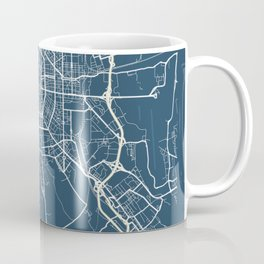Milan Blueprint Street Map, Milan Colour Map Prints Coffee Mug