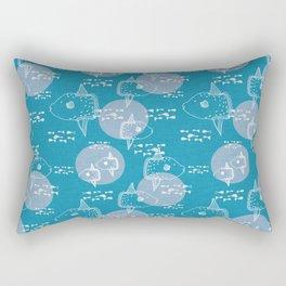 Mola Mola Blue-Ocean sunfish Rectangular Pillow