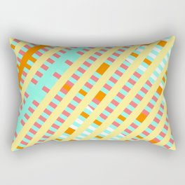 African Inspired Tropical Thatch Print Rectangular Pillow