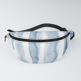 Watercolor Series. Blue Lines I Fanny Pack