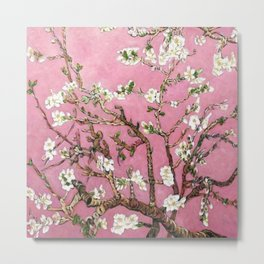 Vincent van Gogh Blossoming Almond Tree (Almond Blossoms) Pink Sky Metal Print