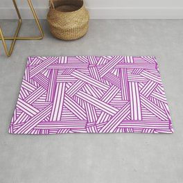 Sketchy Abstract (Purple & White Pattern) Rug