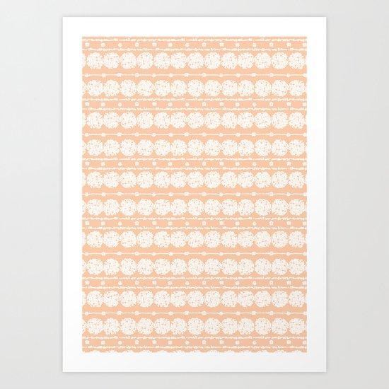 perfect peach Art Print