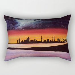 Abu Dhabi, watercolor Rectangular Pillow