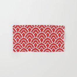 Fan Pattern Red 118 Hand & Bath Towel