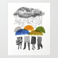 cloudy days for uppercase mag Art Print