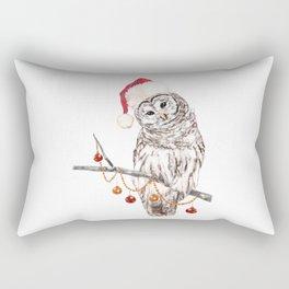 Christmas Owl GREETING Rectangular Pillow