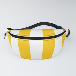 Aspen Gold Yellow and White Wide Vertical Cabana Tent Stripe Fanny Pack