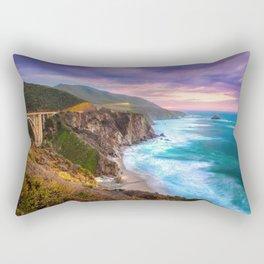 Big Sur Bixby Bridge Adventure Rectangular Pillow
