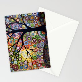 Abstract Landscape Original Painting...VISIONS OF NIGHT, by Amy Giacomelli Stationery Cards