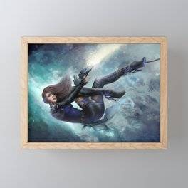 Futuristic sci-fi girl spy Framed Mini Art Print