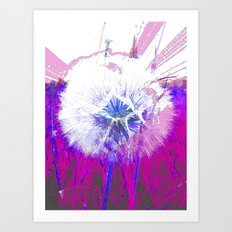 DANDYLION CLOCK Art Print