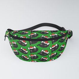 Brindle Frenchie loves Christmas season Fanny Pack