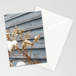 Snowy Flowers Stationery Cards