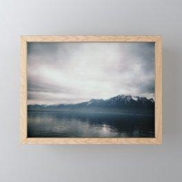 Brume sur Montreux Framed Mini Art Print