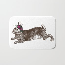 The Rabbit and Roses Bath Mat