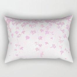 Pretty Soft Pink Trailing Ivy Leaf Print Rectangular Pillow