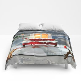 The desire for a white Christmas Comforters