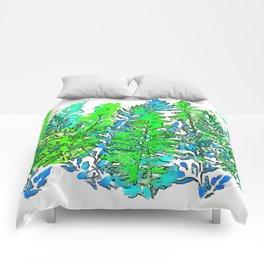 Blue Fern 2 Comforters