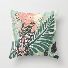Hoopoe Bird Throw Pillow