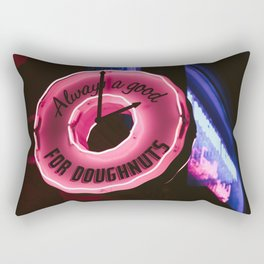 Always a good time for doughnuts Rectangular Pillow