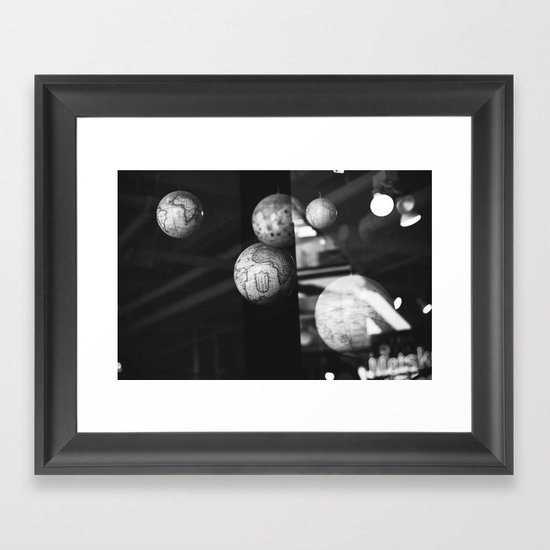 travel dreams Framed Art Print