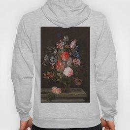 "Adriaen van der Spelt ""Still life of flowers on a stone ledge"" Hoody"