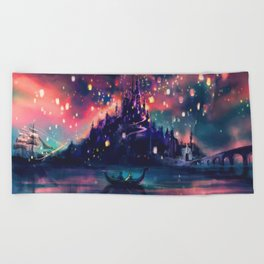 The Lights Beach Towel