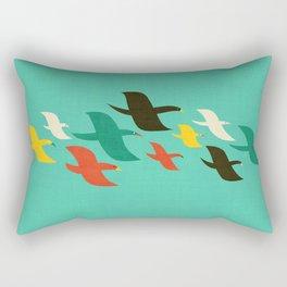 Birds are flying Rectangular Pillow