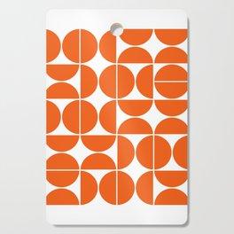 Mid Century Modern Geometric 04 Orange Cutting Board