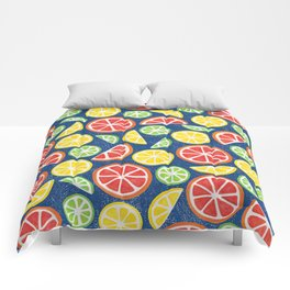 Vitamin C Super Boost - Citric Fruits on Blue Comforters