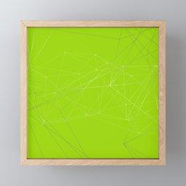 LIGHT LINES ENSEMBLE VII GREEN Framed Mini Art Print