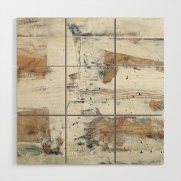 Wood planks epoxy resin repairing shipboard texture Wood Wall Art