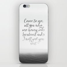 Come to me, all you who are weary and burdened and I will give you rest iPhone & iPod Skin