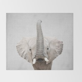 Elephant 2 - Colorful Throw Blanket