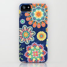 Folky Flora-blue iPhone (5, 5s) Slim Case