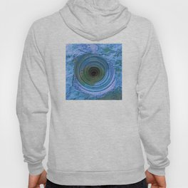 Mysterious Hole in Mountainside: Bright Blue Version Hoody