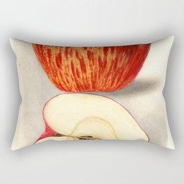 Vintage Illustration of a Sliced Apple Rectangular Pillow