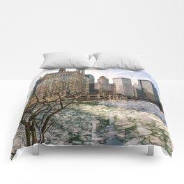 Frozen River Breaks Comforters