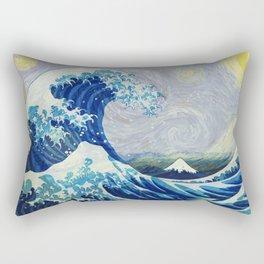 The Starry Night Wave Rectangular Pillow