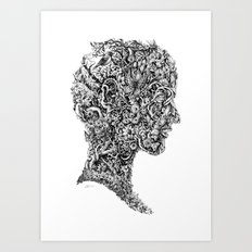 Portrait of spring Art Print