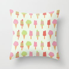Ice Cream!!!  Throw Pillow