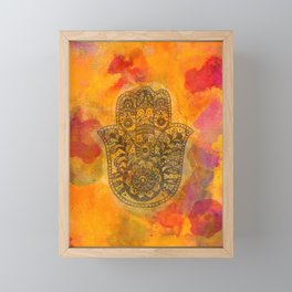 Sunrise Hamsa Framed Mini Art Print