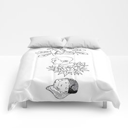 Science Fiction Character Illustration Comforters