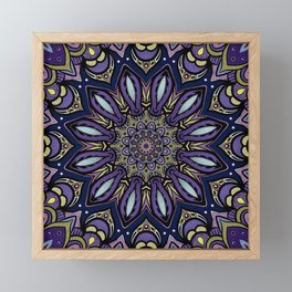 Dark Blue Mandala Framed Mini Art Print