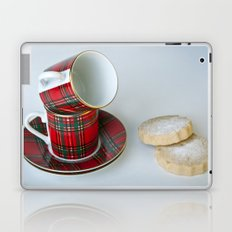 Tartan Coffee Cups & Scottish Shortbread Laptop & iPad Skin