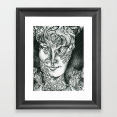 Fungal Demon Princess  Framed Art Print
