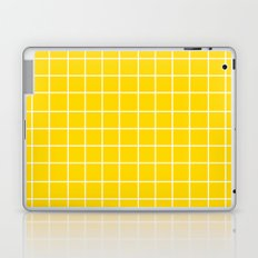 Grid (White/Gold) Laptop & iPad Skin